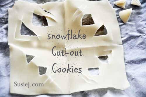 Susiej snowflak cookies