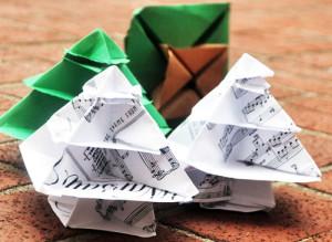 origami christmas trees001