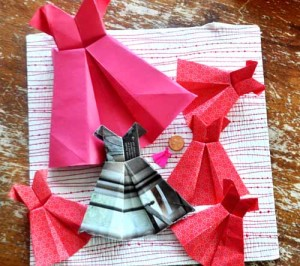 origami dress001