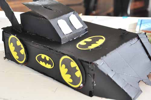 susiej the batmobile valentine box the completed creative masterpiece - Boys Valentine Boxes