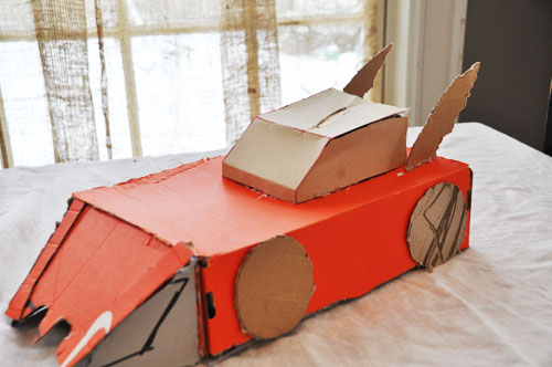 how to make a batman car out of paper