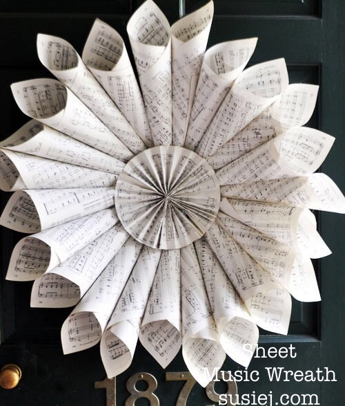 sheet music wreath susiej