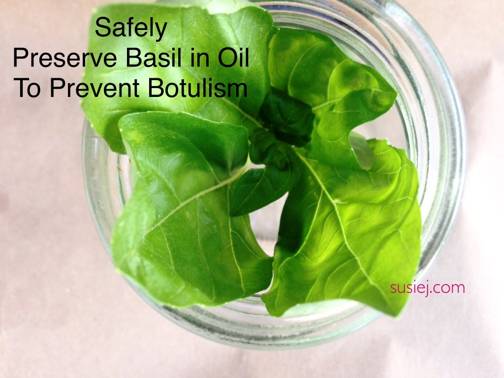 How to Preserve Basil In Oil Safely to Prevent Botulism